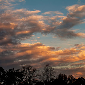 Winding Down by Frank Matlock II - Landscapes Cloud Formations ( clouds, november, nc, reidsville, sunset, late day, sunlit )