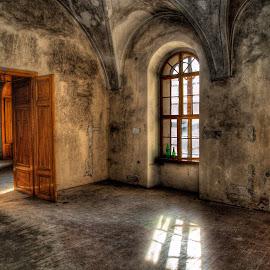 interier kastiela by Ján Hrmo - Buildings & Architecture Architectural Detail ( slnko, stolicka, dvere okno, svetlo )