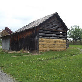 1830s Log Barn by Crystal Bailey - Buildings & Architecture Public & Historical