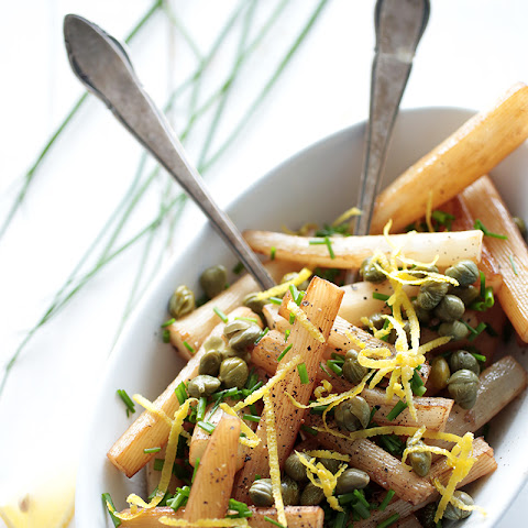 Black Salsify with Caper and Chives