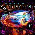 Burning Sports Car Keyboard Theme