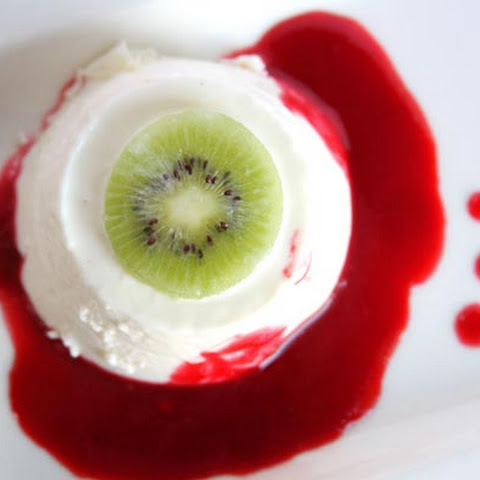 Buttermilk Panna Cotta Eyeballs