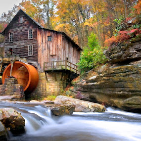 This ole Mill by Ken Smith - Buildings & Architecture Other Exteriors ( grist mill, landscape, babcock state park, galde creek )