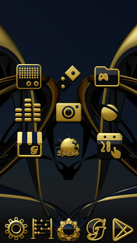 Babylon gold blue ICON PACK Screenshot 3