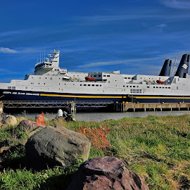 Argentia Ferry by Harold Bradley - Transportation Boats ( trucks, ferry, cars, ship, boat, large, all manner of vehicles )