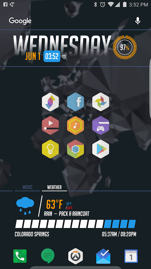KLWP Preset - Overwatch UI Screenshot 1