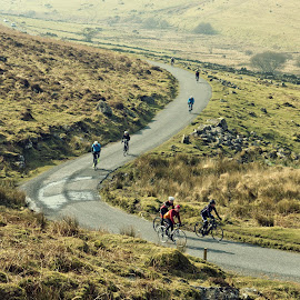 Riding on Dartmoor by Alex Graeme - Transportation Bicycles