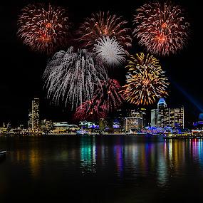 by Senthil Damodaran - Public Holidays Other ( ndp, fireworks, celebration, street scene, night, lights )