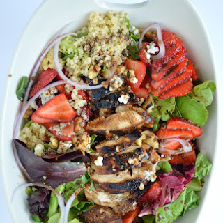 Easy Balsamic Chicken Strawberry Salad