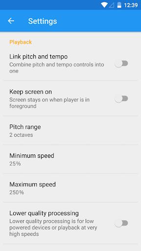 Music Speed Changer - screenshot