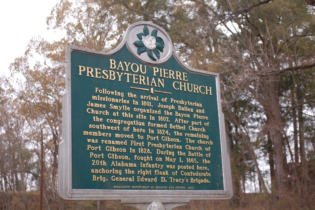 Following the arrival of Presbyterian missionaries in 1801, Joseph Bullen and James Smylie organized the Bayou Pierre Church at this site in 1807. After part of the congregation formed the Bethel ...