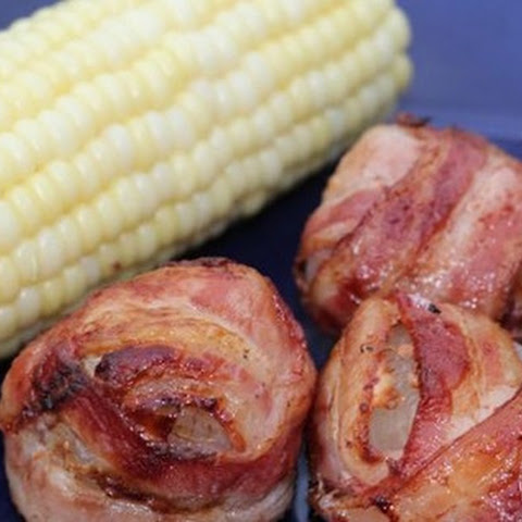 Grilled Bacon Wrapped Onion Bombs