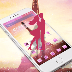 Pink Eiffel Tower Love