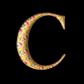 C by Irena Gedgaudiene - Typography Single Letters