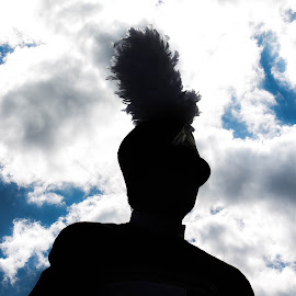Pride by Sydney Williams - People Musicians & Entertainers ( blue sky, sky, marching band, silhouette, musician )