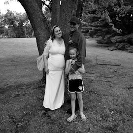 Family by Kasha Newsom - Wedding Bride & Groom ( wedding photography, bride and groom, wedding, black and white, summer )
