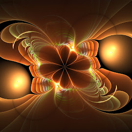 Harmony by Cassy 67 - Illustration Abstract & Patterns ( fractal art, digital art, wallpaper, fractal, digital, flower, yin yang )
