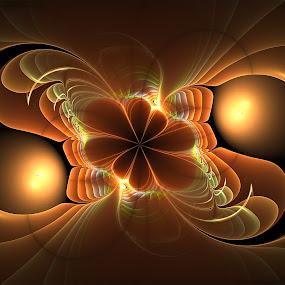 Harmony by Cassy 67 - Illustration Abstract & Patterns ( fractal art, digital art, wallpaper, fractal, digital, flower, yin yang )