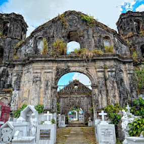 Thy Holy Place by Rman Alfred Lorenzo - Buildings & Architecture Public & Historical ( the magnifico photography, cemetery, historical places in the philippines, church ruins )