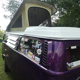 V W Camper by David Walters - City,  Street & Park  Street Scenes ( colors, cars, transportation, sony hx400v, v w camper )