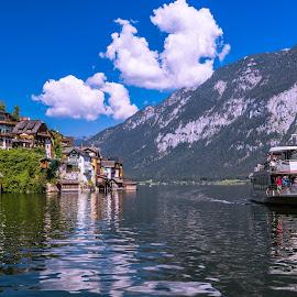 Hallstatt Village by Arif Sarıyıldız - City,  Street & Park  Vistas ( lake hallstatt, hallstatt village, travel, austria, alps )