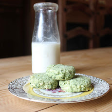 Spinach and Almond Shortbread