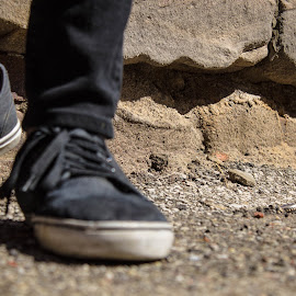 Standing Up by Brendan Simpson - Artistic Objects Clothing & Accessories ( shoes, urban, hipster, fashion, vans, style, stylish, rock, city )