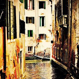 Beautiful Venice. by Bill Avergo - Buildings & Architecture Public & Historical ( water, gondola, gondolier, buildings, venice, reflections, canal )