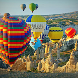 Cappadocia, Turkey by Andie Andros - Transportation Other ( the viewing deck, turkey, hot air balloons, cappadocia,  )