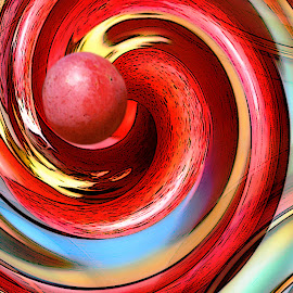 Wild Bog Grape Abstract Art by Robin Amaral - Digital Art Abstract ( nature abstract, artography, fruit, organic, flowing, grapes, grape, wild grape, red grape )