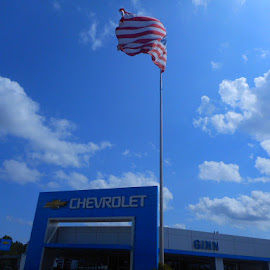 Ginn Motors Salutes America by David Jarrard - Public Holidays July 4th ( chevrolet, american made, patriotism, ginn motors )