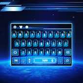 blue planet earth keyboard space future APK for Bluestacks