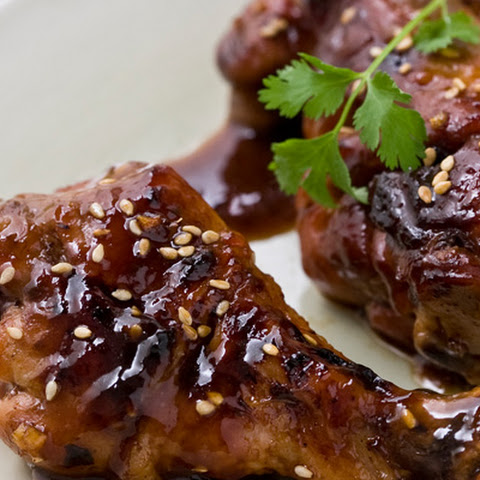 Chicken Drumsticks Marinated with Honey and Soy