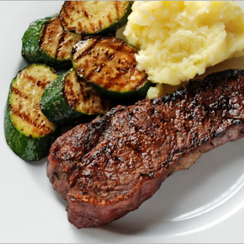 Grilled Steaks with Rosemary Garlic Onion Marinade