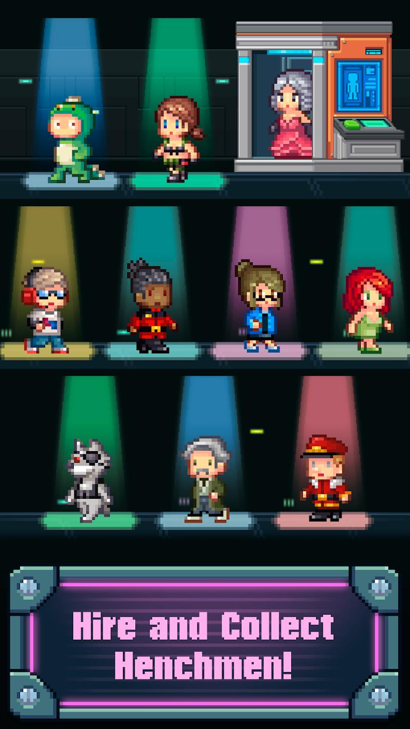 Tap Tap Evil Mastermind - Pixel Idle Clicker Screenshot 1
