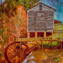 Old Mill by Dave Walters - Digital Art Places ( h d r, colors, digital art, buildings, artistic,  )