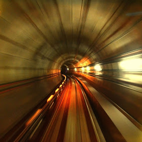 Zoom in by Hussin Mohd Nor - Abstract Fine Art ( zoom in, tunnel )