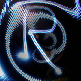 R by Paul Wante - Typography Single Letters ( blue, illustration, lightpainting, typography, design )