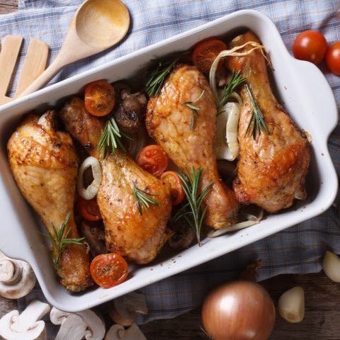 Lemon Rosemary Baked Chicken Leg