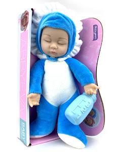 "Пупс ""Anna De Wailly"" 33см, мягкий для сна, синий"