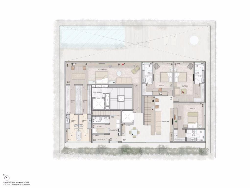 Cobertura Duplex   Pav Superior  - 840 m²