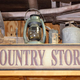 Country Store by Leah Zisserson - Artistic Objects Signs ( country, farmers market, barn, sign, store, virginia, lantern,  )