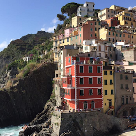 Cinque Terre by Holly Lent - Buildings & Architecture Other Exteriors ( water, cinque terre, colorful, buidings, buildings, ocean, coastal, italy,  )