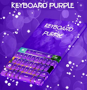 Keyboard Purple Glow - screenshot