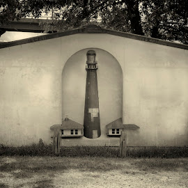 Light House House by Jim Oakes - Buildings & Architecture Homes ( black and white, light house, house, wall, daylight )