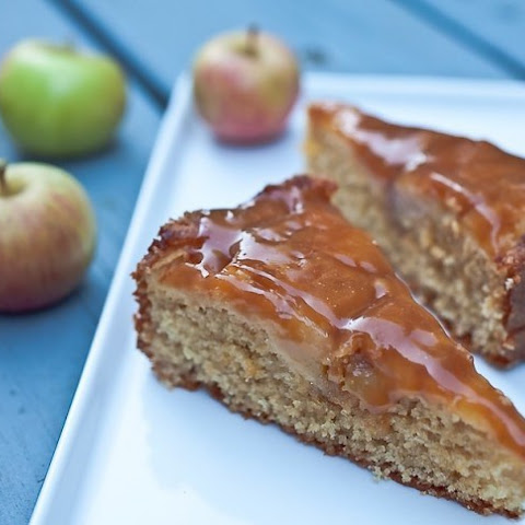 Apple Cake With Toffee Topping