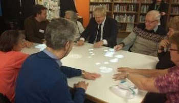Launch of Tovertafel at Uxbridge Library with Boris Johnson