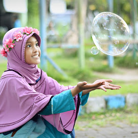 bubble by Darlis Herumurti - Babies & Children Children Candids