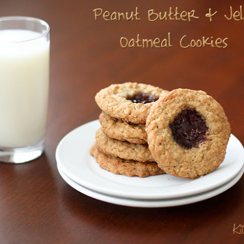 Peanut Butter & Jelly Oatmeal Cookies