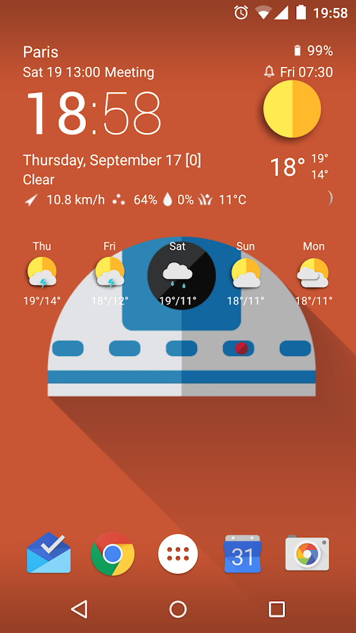TCW material weather icon pack Screenshot 18